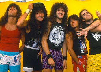 Monsters Of Rock Music Festival, Castle Donington, Britain - 1987, Anthrax (Photo by Brian Rasic/Getty Images)