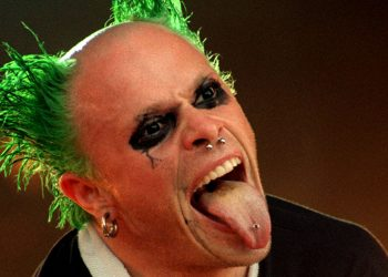 Keith Flint of The Prodigy on stage July 1996