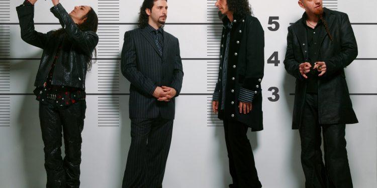 LEFT TO RIGHT:  Daron Malakian, John Dolmayan, Serj Tankian, Shavo Odadjian
