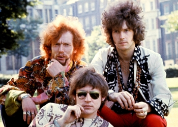 Members of rock band Cream, their sound was characterised by a melange of blues and psychedelia. Cream combined Clapton's blues guitar playing with the airy voice of Jack Bruce and the manic drumming of Ginger Baker. Photo by LFI/ABACAPRESS.COM