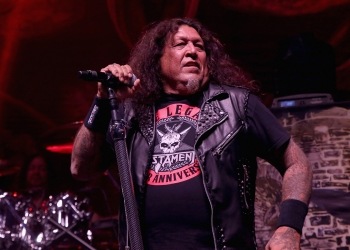LAS VEGAS, NV - MAY 12:  Singer Chuck Billy of Testament performs at Brooklyn Bowl Las Vegas on May 12, 2018 in Las Vegas, Nevada.  (Photo by Gabe Ginsberg/Getty Images)